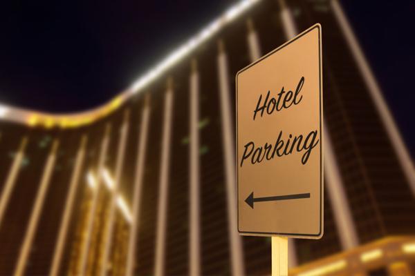 Hotel Parking sign