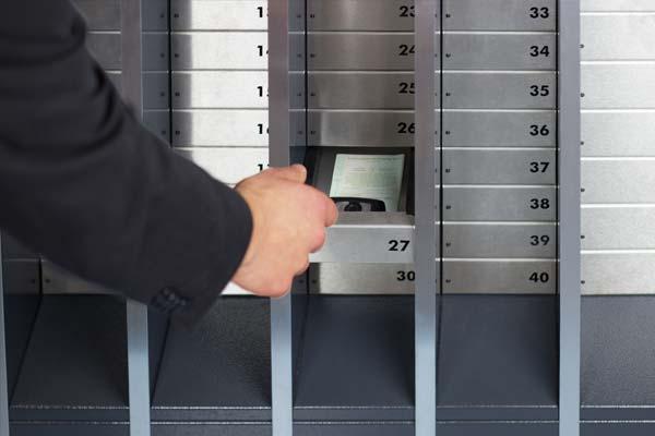 Safe storage of vehicle documents