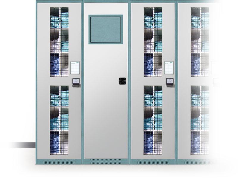 Intelligent textile cabinets